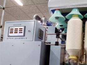 智能包芯竹节复合纱装置